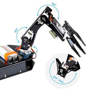 Image 4 - Sunمؤسس إلكترونيّ لتقوم بها بنفسك ذراع آلي عدة 4 Axis سيرفو تحكم Rollarm مع ذراع تحكّم سلكيّة لاردوينو Uno R3