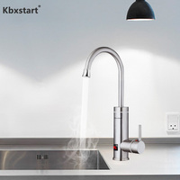 Instant Tankless Electric Hot Water Heater Faucet Kitchen Fast Heating Tap Water Faucet with LED Digital Display (Under Inflow )|Electric Water Heaters| |  -
