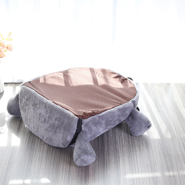 Grey Mouse Shape Bed For Small Cats Dogs Cave Bed Removable Cushion,Waterproof Bottom Cat House Mouse For Cats Pet Products  3