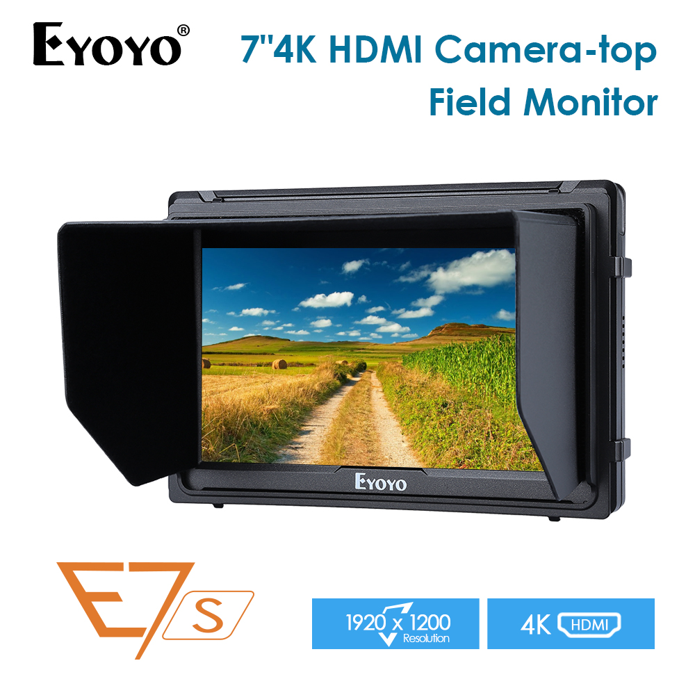 E7S 7 Inch IPS 1920x1200 HDMI On Camera Field Monitor Support 4K Input Output Video Monitor for DSLR Canon Nikon SonyE7S 7 Inch IPS 1920x1200 HDMI On Camera Field Monitor Support 4K Input Output Video Monitor for DSLR Canon Nikon Sony