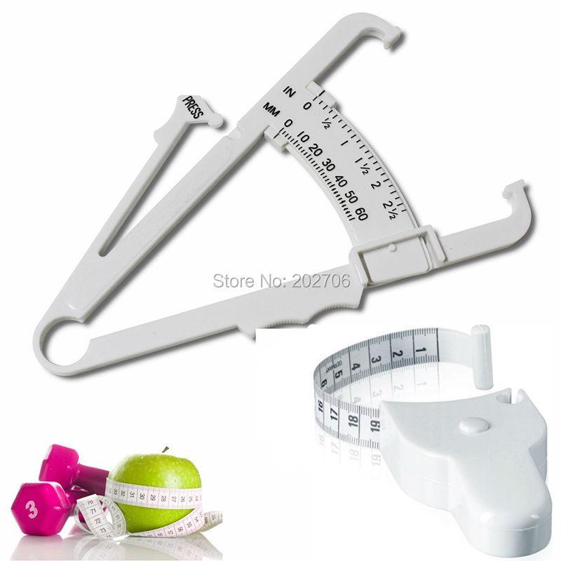 Fitness Tech Body Fat Caliper+Body Mass Measuring Tape Tester Fitness Weight Loss Muscle~Cute