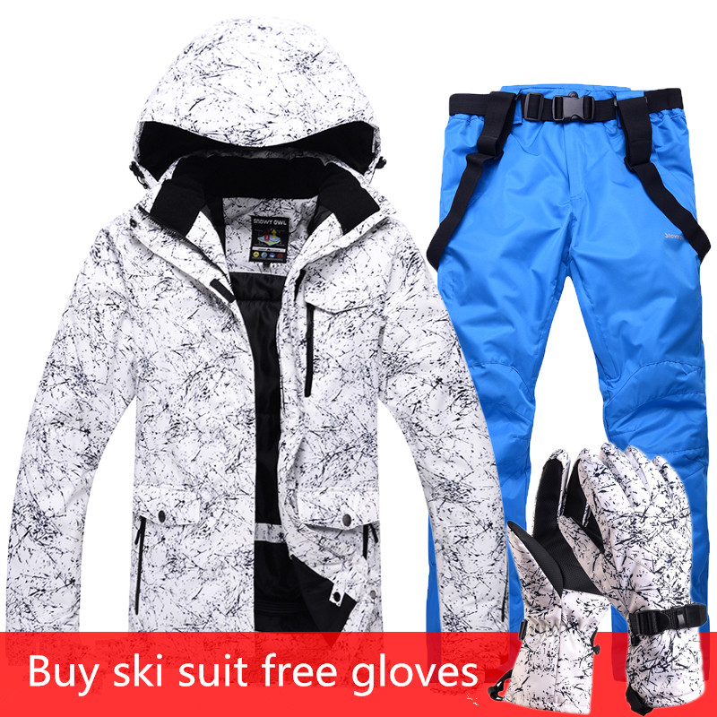 2019 nouveaux hommes et femmes combinaison de Ski imperméable combinaison de Ski de montagne pour hommes épaissir veste de neige de Ski chaud + pantalon de Snowboard ensemble de Ski