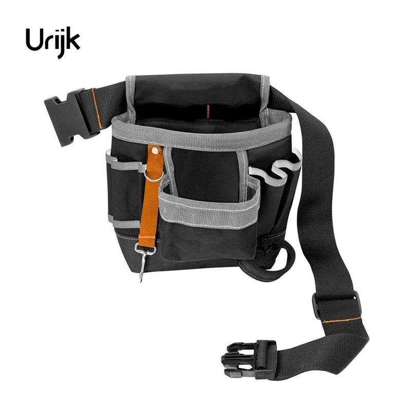 Urijk 600D Oxford Tool Bag Belt Waist Bag Pouch Waist Pocket Outdoor Work Hand Tools Hardware Storage Electrician Gardening Tool multi function meter reading dedicated tool bag high quality 600d oxford cloth tool bag multi pocket design electrician bag