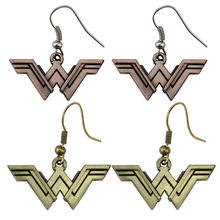 Movie Accessories DC Comics Wonder Woman Earrings Avengers Jewelry Girls Birthday Gifts Halloween