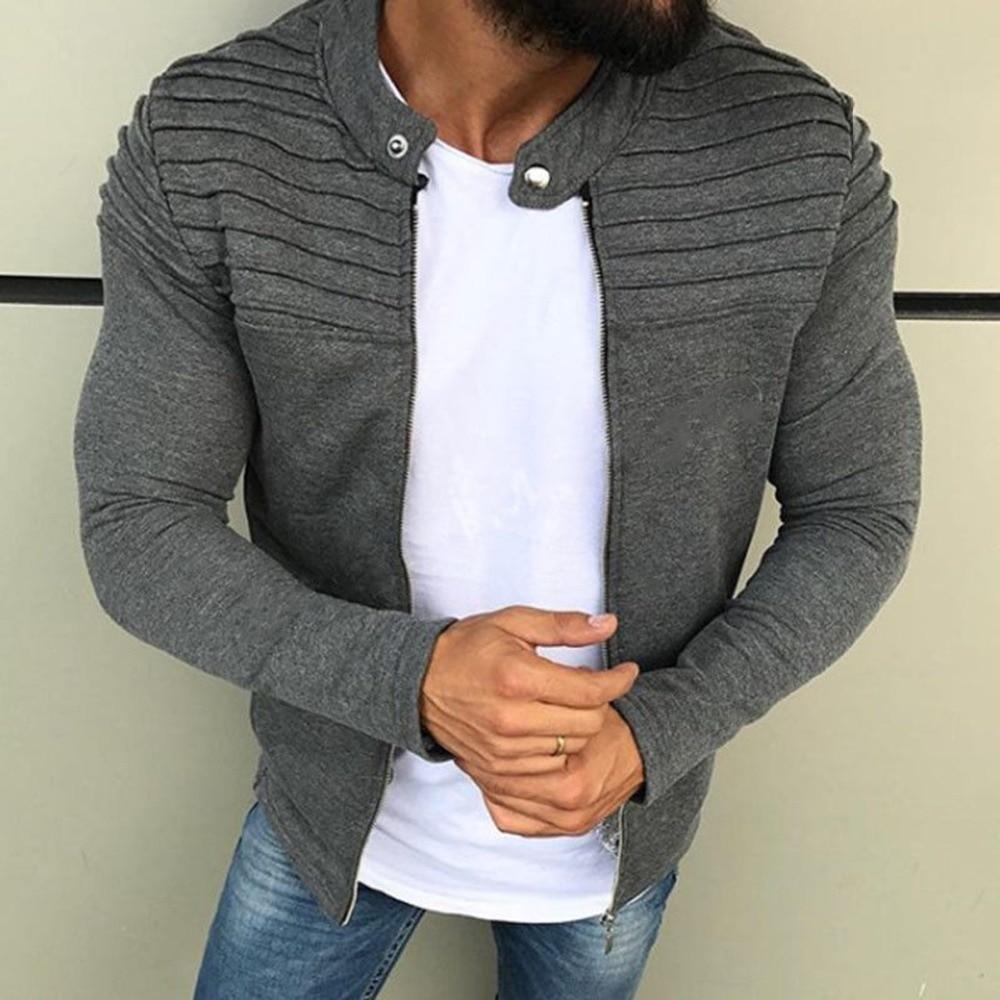 Spring Autumn New Men s Zipper font b Jacket b font Male Casual Streetwear Long Sleeves