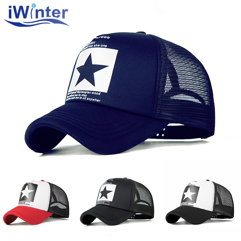 IWINTER 2018 Dropshipping Baseball Cap For Women Men Mesh Adjustable Baseball Cap