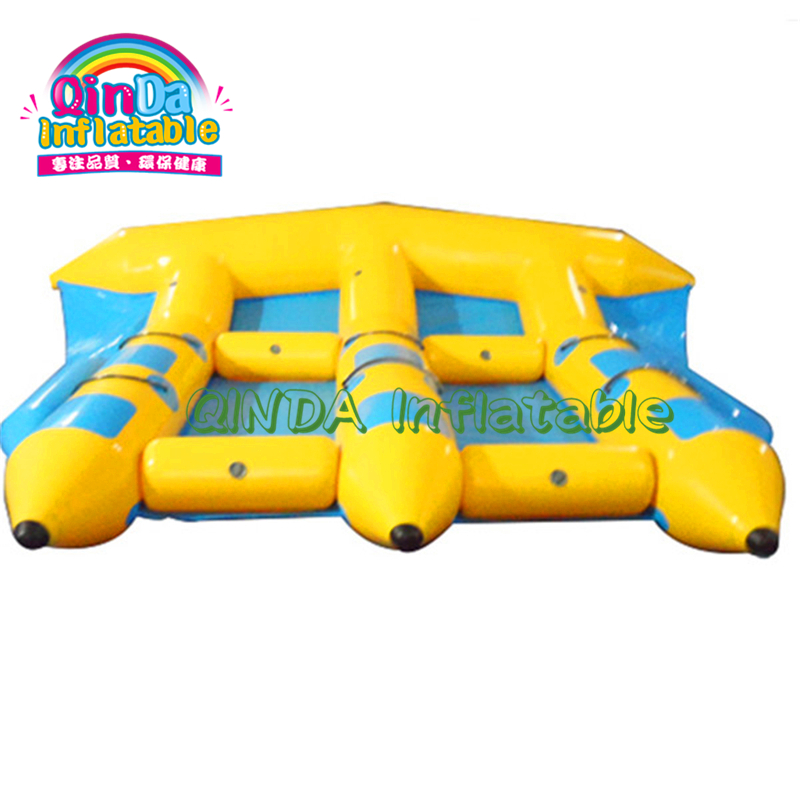 Summer hot water play games 3 tubes inflatable flying banana fish/flying towables for water sports toys - 2
