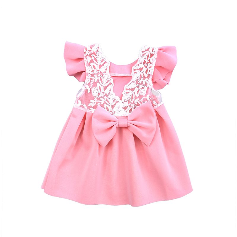 fc8e5ffb427c7 Newborn Baby Girls Infant Dress with Bow-knot clothes Summer Kids Party  Birthday Outfits Little Girl Princess Tutu Gown