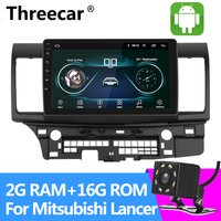 2DIN 10.2 Android Car Radio 2+16G for Mitsubishi lancer 1024*600 Quad Core wifi Bluetooth video audio Multimedia car dvd Stereo
