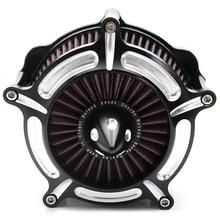 Воздушные фильтры мотоцикла турбины Воздухоочиститель воздушного фильтра для Harley Sportster Xl883 Xl1200 1991-2011 2012 2013