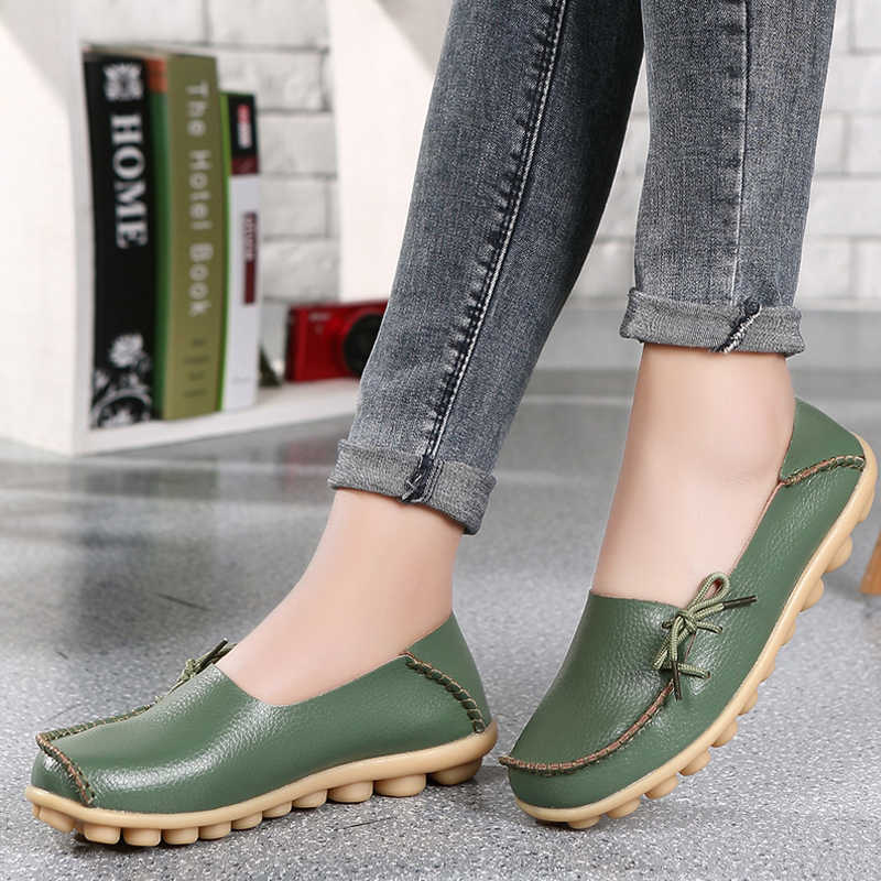 FEVRAL marka kadın deri ayakkabı moda kadın daireler rahat loafer'lar yumuşak kadın ayakkabı hakiki deri kadın ayakkabısı