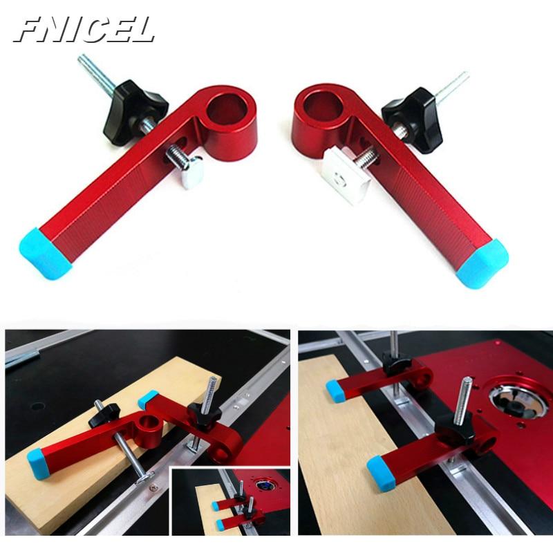 1Set Universal Clamping Blocks Platen Miter Track Clamping Blocks M8 Screw Woodworking Joint Hand Tools  Set