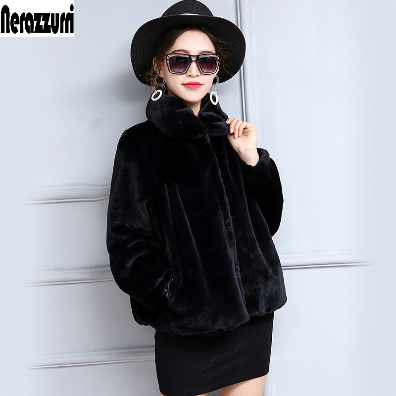 Winter Faux Fur Jacket Women Long Sleeve High Waist Short Plus Size Fake Fur Coats 5XL 6XL 7XL Fashion Furry Pleated Fur Outwear
