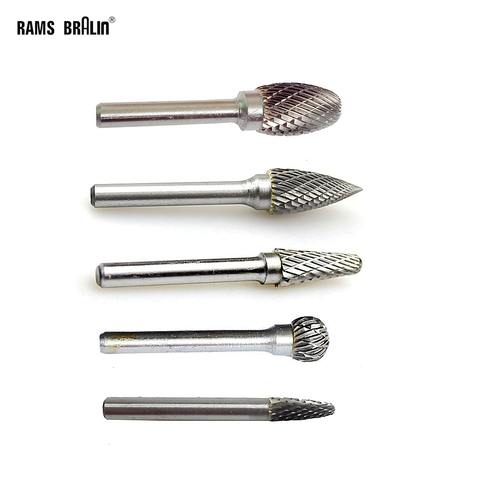 1 Piece Double Cut Carbide Bur HSS Cutter Tungsten Steel Rotary File For Metal Wood Deburring Finishing Cleaning