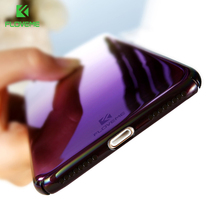 FLOVEME Aurora Blue Ray Phone Cases For iPhone 6 7 6s Plus Case 5S SE Clear Gradient Color Plated Mirror Cover For iPhone 6 6S