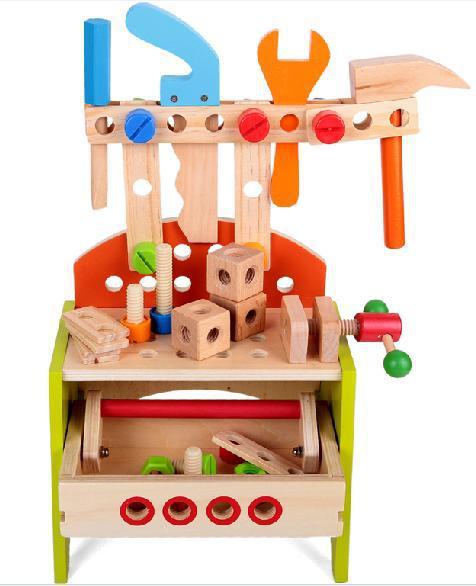 Multifuncional En Del Educativos GratuitoBebé Toys Banco El De Simulación Madera Boy Regalo Envío Trabajo Herramienta ybv7gYf6