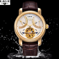 Mens Watches Top Brand Luxury LIGE Watch Men Military Sport Luminous Automatic Mechanical Leather Wristwatch montre homme