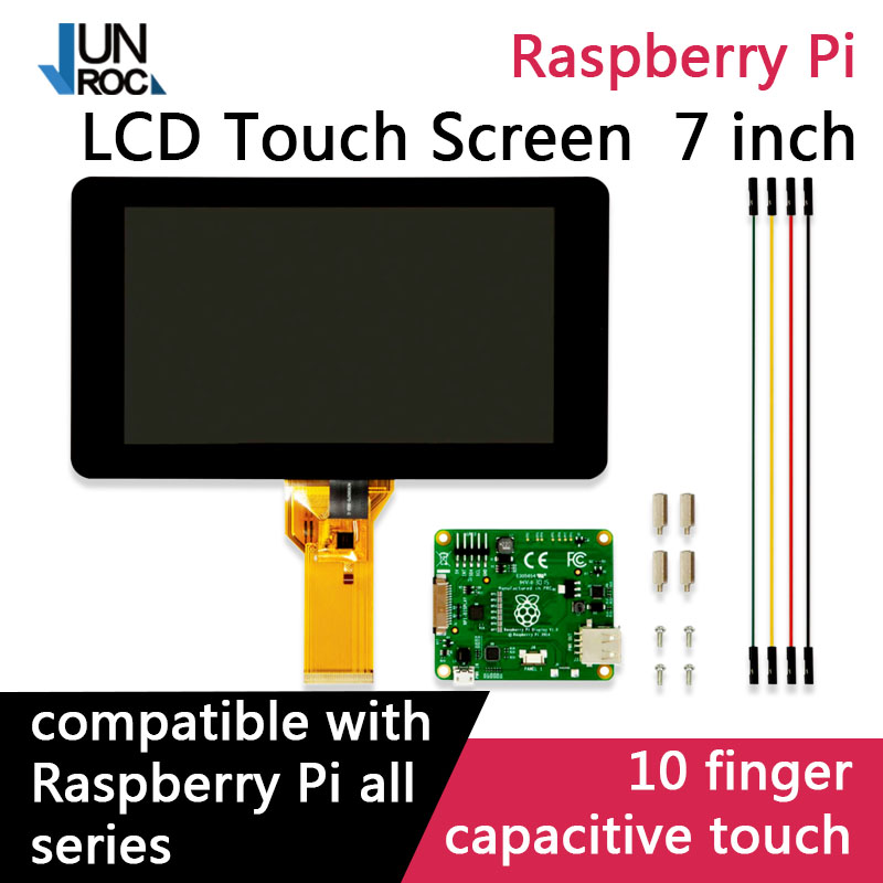 Raspberry Pi 7inch Touchscreen Display Support For 10 finger Touch Raspberry Pi 3B Pi 3B