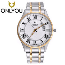 ONLYOU Women's Watches Bracelet Dress Watch Men Business Luxury Sport Stainless Steel Waterproof Watch Mens Top Brand Wristwatch
