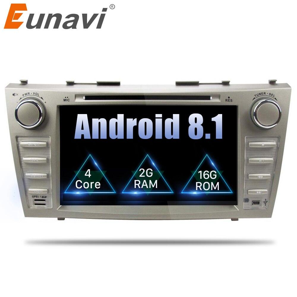 Eunavi 8 Pouces Quad Core 2 Din Android 8.1 Voiture lecteur dvd De Voiture Gps Stéréo Pour Toyota Camry 2006 2007 2008 2009 2011 avec bluetooth