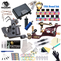 Top Free Ship Complete Tattoo Kit Rotary Tattoo Machine Coils Machine Hot Sales Dragonhawk Power Supply