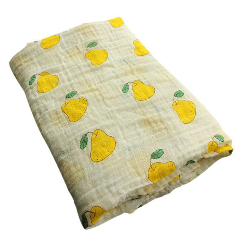 Lovely Fruit Printing Children Towels Super Soft Baby Care Towel Washcloth Wipe Sweat Towel