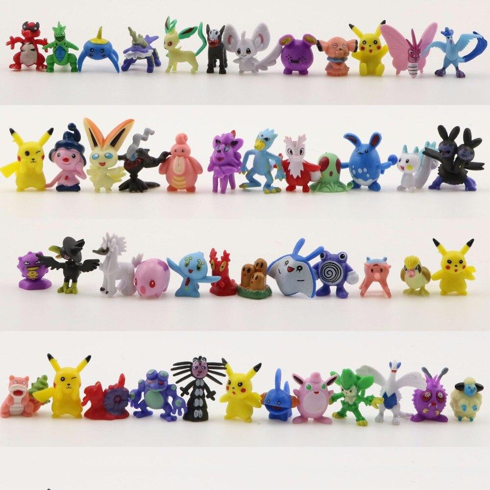"""Pokémon Detective Pikachu Random Mini Toy Pearl Squirtle 1/"""" Figures Set of 24pcs"""