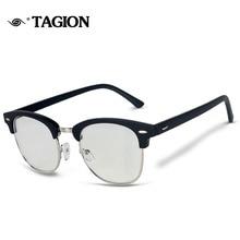 Fashion TAGION Brand Unisex Vintage Sunglasses Mens Women Retro Acetate Sun Glasses gafas oculos  Ladies Clear Lens Eyewear 3016