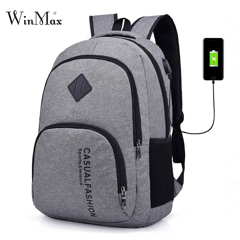 Laptop Backpack For Men USB Charging Backpacks Travel Bag Large Capacity School Backpack For Teenager Boys School Bags Mochila