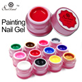 Saviland 1pcs Painted Nail Gule Painting Colors UV Bio Gel Nail Art Drawing Manicure UV Soak Off Gel Varnish DIY