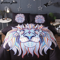 Hot Sale Indian Nation Lion Head Printed Bedding Set Bohemia Duvet Cover Set Include Duvet Cover Pillowcase Twin Queen King Size
