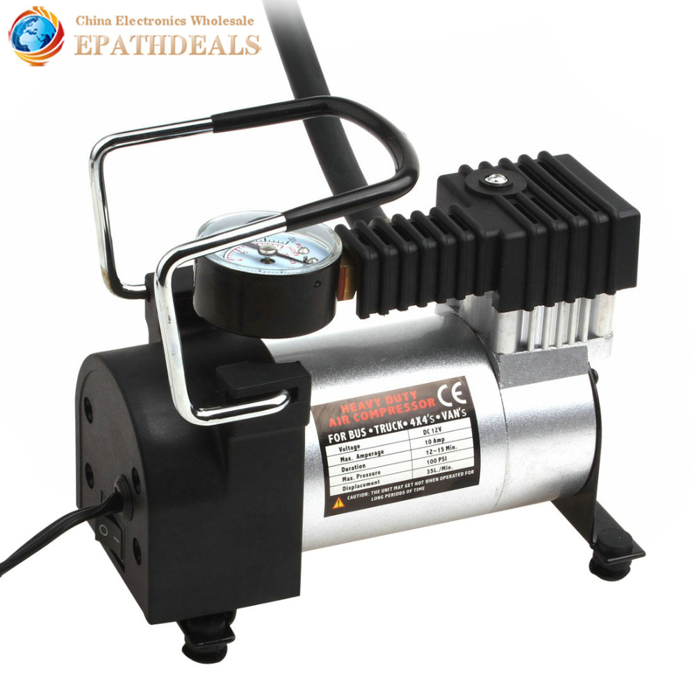 Portable Car Air Compressor Heavy Duty 12V 140PSI 965kPA Electric Tire Tyre Inflator Pump for for Auto Bicycles Motorcycles Ball cnikesin 12 volt car portable air compressor pump digital tire inflator 150 psi dc tire inflator for car motorcycles bicycles
