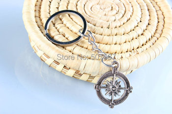100pcs/lot compass key chain jewelry key chain ring Christmas gift idea gift for girl for boy for women for mother father mini kompas sleutelhanger
