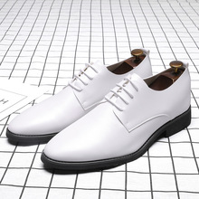 купить white men suit shoes party men's dress shoes italian leather zapatos hombre formal shoes men office sapato social masculino дешево