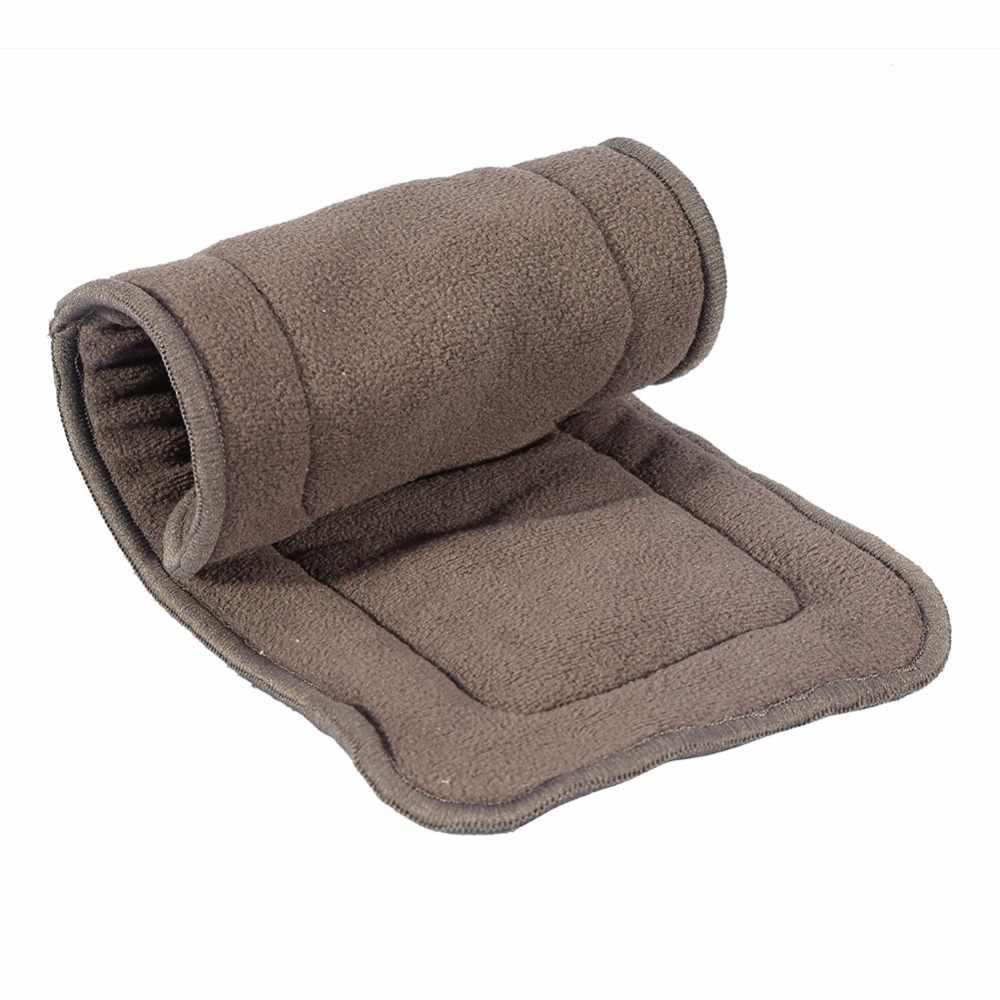 洗える大人のおむつ 5 層竹炭布おむつライナースーパー吸収再利用可能な失禁大人おむつインサートパッド