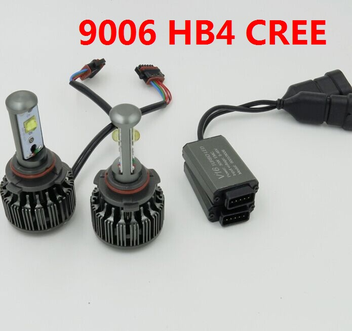9006 Hb4 V16 Turbo 7200lm Car Led Headlight Conversion Kit White 6000k H1 H3 H4 H7 H11 H13 9004