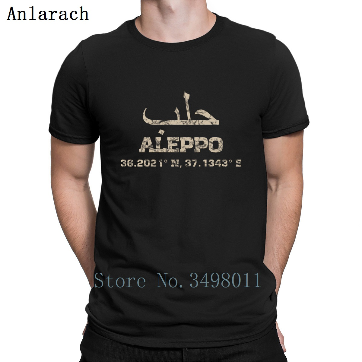 Aleppo Syria   T     Shirt   Design 100% Cotton O Neck Clothing Fitness Fashion Summer Style Trend   Shirt