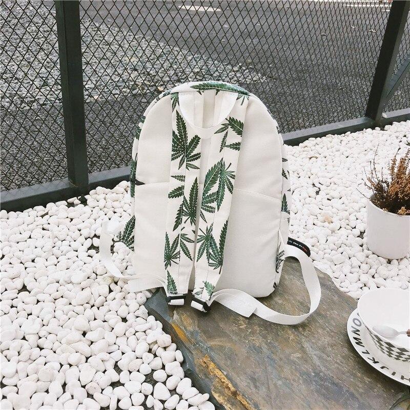 Stylish Unisex Backpacks with Cannabis Leaf Patterns Backpacks