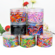 100 Pcs/Pack Girls Children Rubber Band Elastic Hair Ropes Accessories Mini Candy Color hair band ring