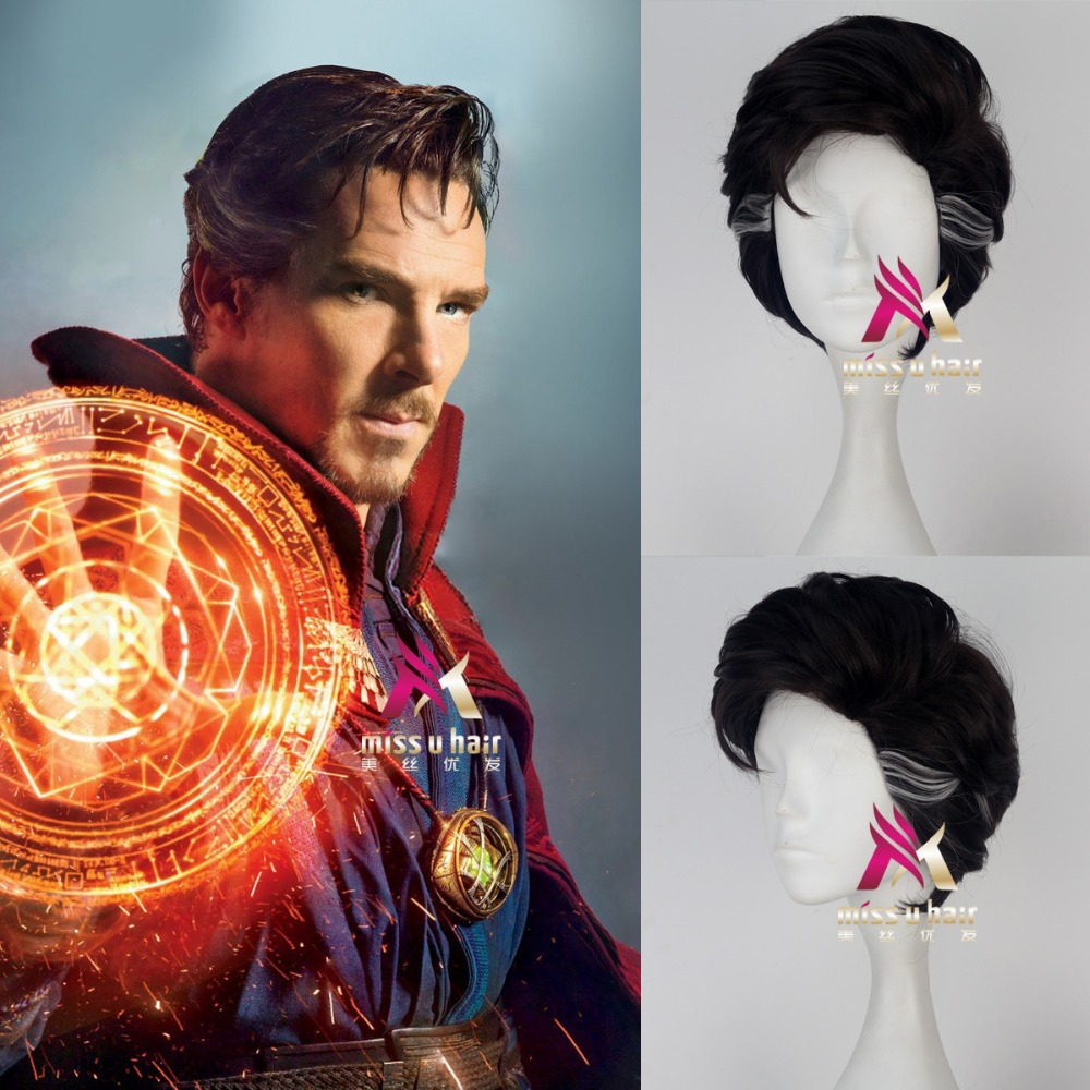 New Movie Doctor Strange wig Play Hair The Avengers Comic Cosplay Marvel Halloween Costume Synthetic Refractory Fiber Wigs