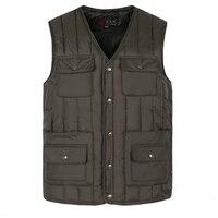 Mens Jacket Sleeveless Vest Winter Fashion Casual Coats 2017 New Brand Male Cotton Padded Men S