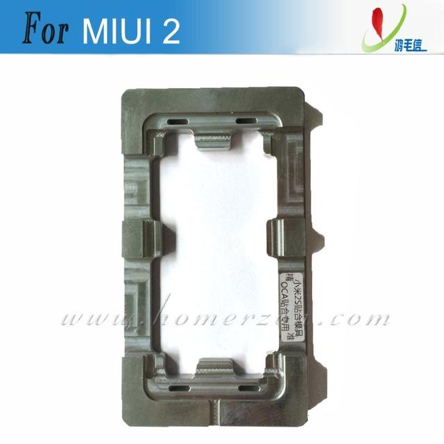 2 unids aluminio molde de Metal para XIAOMI MIUI 2 2 S LCD molde pantalla táctil del teléfono móvil de reparación de la pantalla
