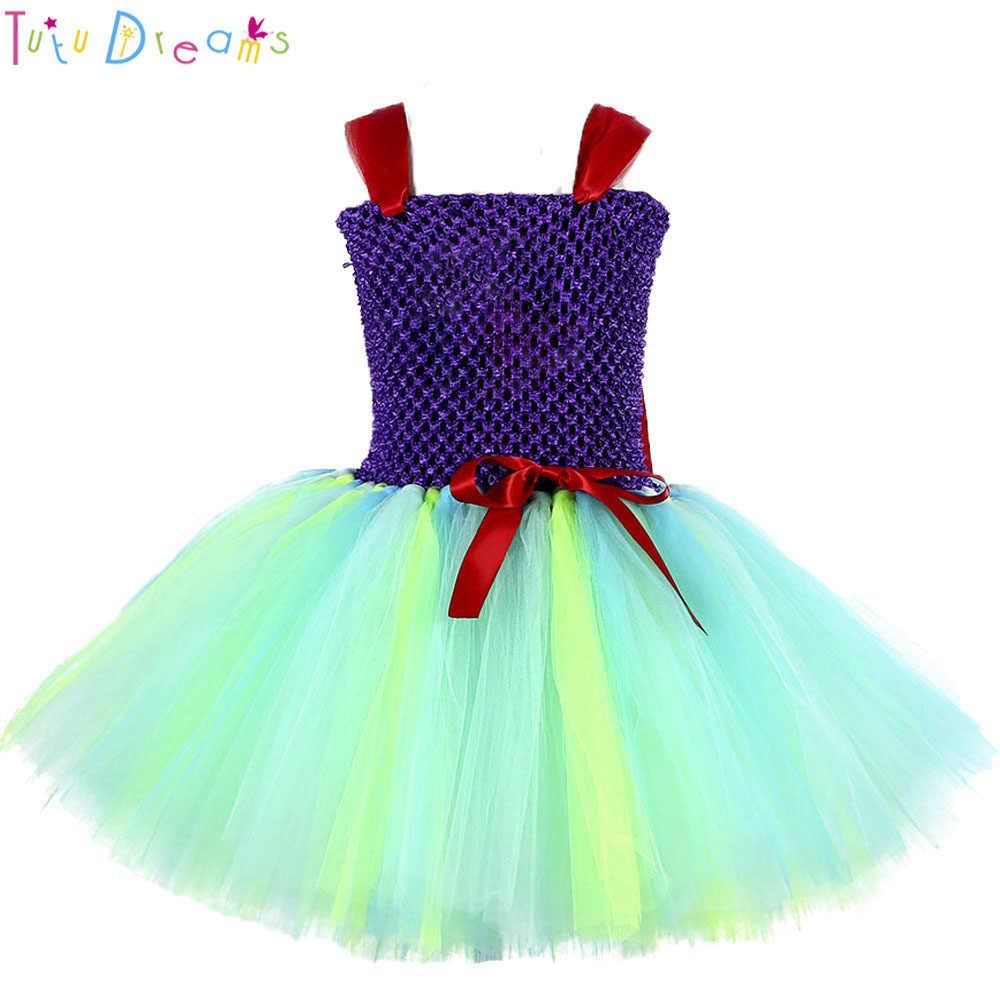 プリンセスマーメイドアリエル少女チュチュドレス女の赤ちゃんコスプレ誕生日パーティーチュールチュチュドレスハロウィン衣装子供のための