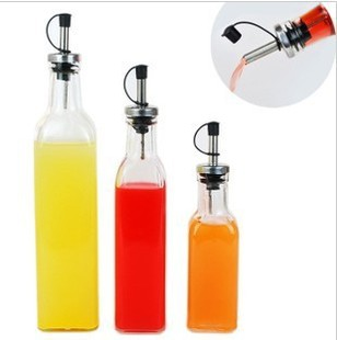 Lovely Kitchen Supplies Glass Storage Organizer Oil Soy Sauce Bottle Container  With Leakproof Stopper Plug Free Shipping