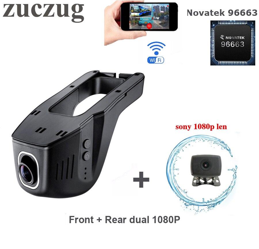 ZUCZUG Novatek 96663 Wifi voiture DVR caméra avant arrière double Full HD 1080 P double Dash Cam double lentille voiture enregistreur vidéo