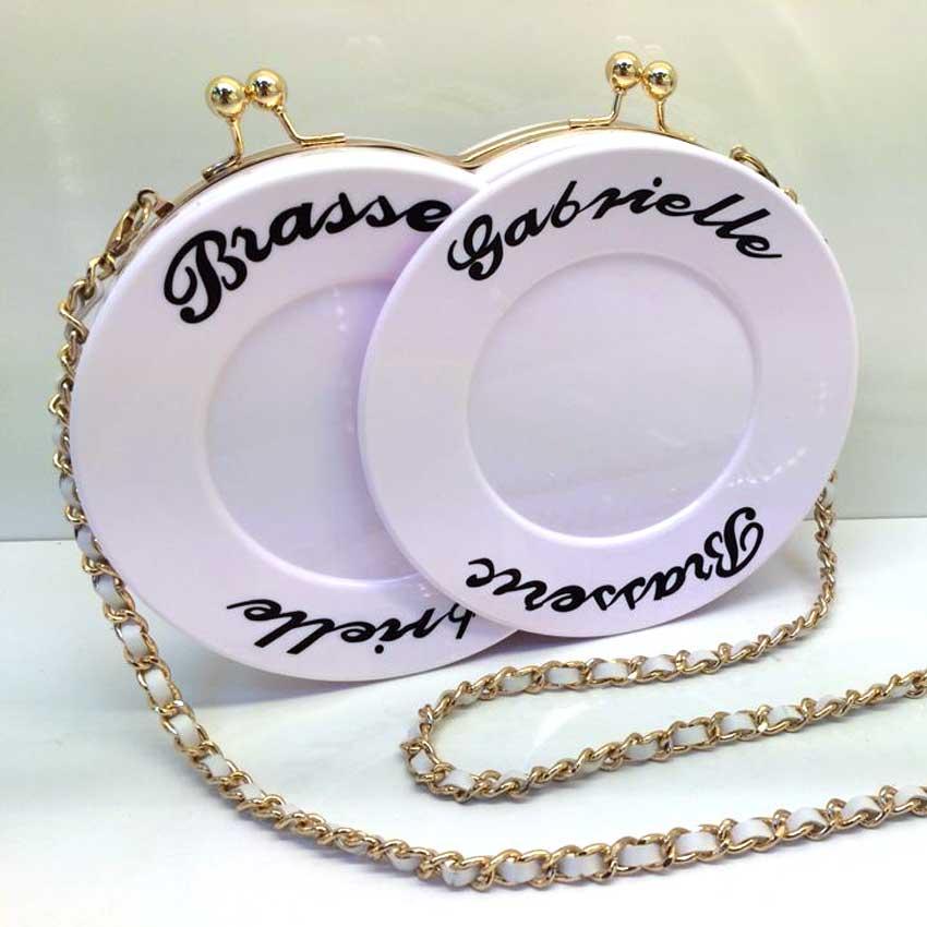 Nuevo  Famosa Marca de Placas De Acrílico Carta Señoras de La Manera Bolsos de L