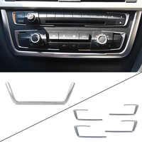 CITALL Chrom Vorne 4x Dashboard Center Konsole Abdeckung + U-Form Trim kits für BMW 3 4 Serie F30 f31 F32 F34 F36 316 318 320 420