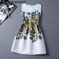 Irene Inevent Summer Women Ukraine Short Dress Desigual New Ladies Vintage Elegant Party Dresses Sundress Robe