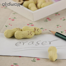 hot deal buy 4pcs kawaii peanut rubber eraser lovely cartoon office school supplies children pencil erasers