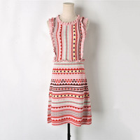 sleeveless vest knitted dress Summer women Dress Female Geometric Striped Ruffles Pink Sweet Dresses high quality